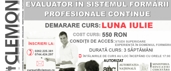 imagine Evaluator in sistemul formarii profesionale continue